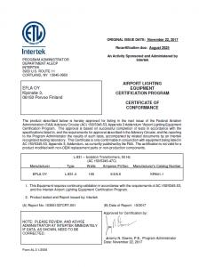 FAA L-831 (50 Hz) New KR641.1 – 3/3