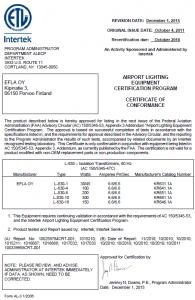 FAA L-830 (60Hz) KR6XX.1A – 1/3