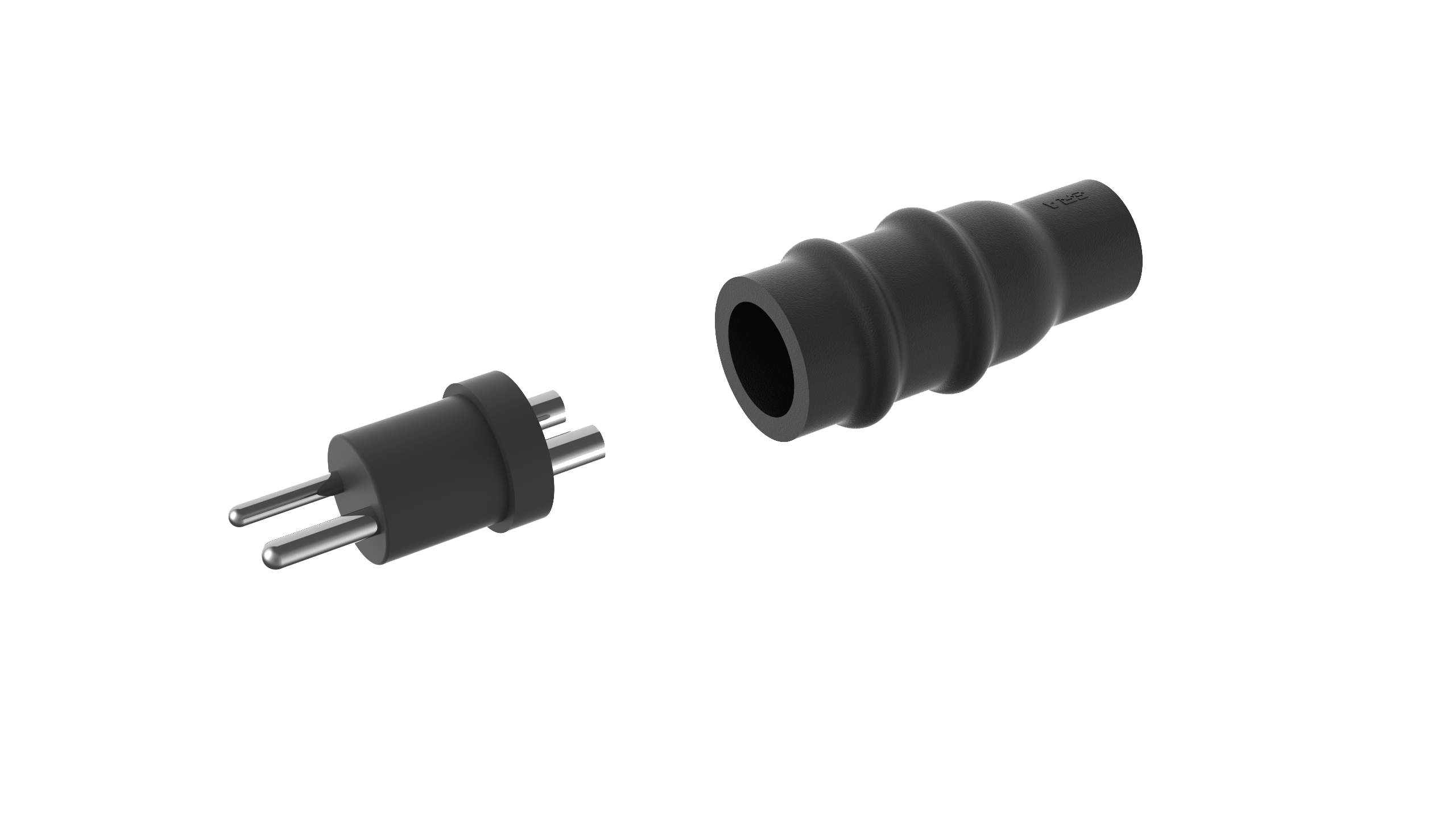 KD501, Secondary Connector Kit for two-core cable, plug, Style 5