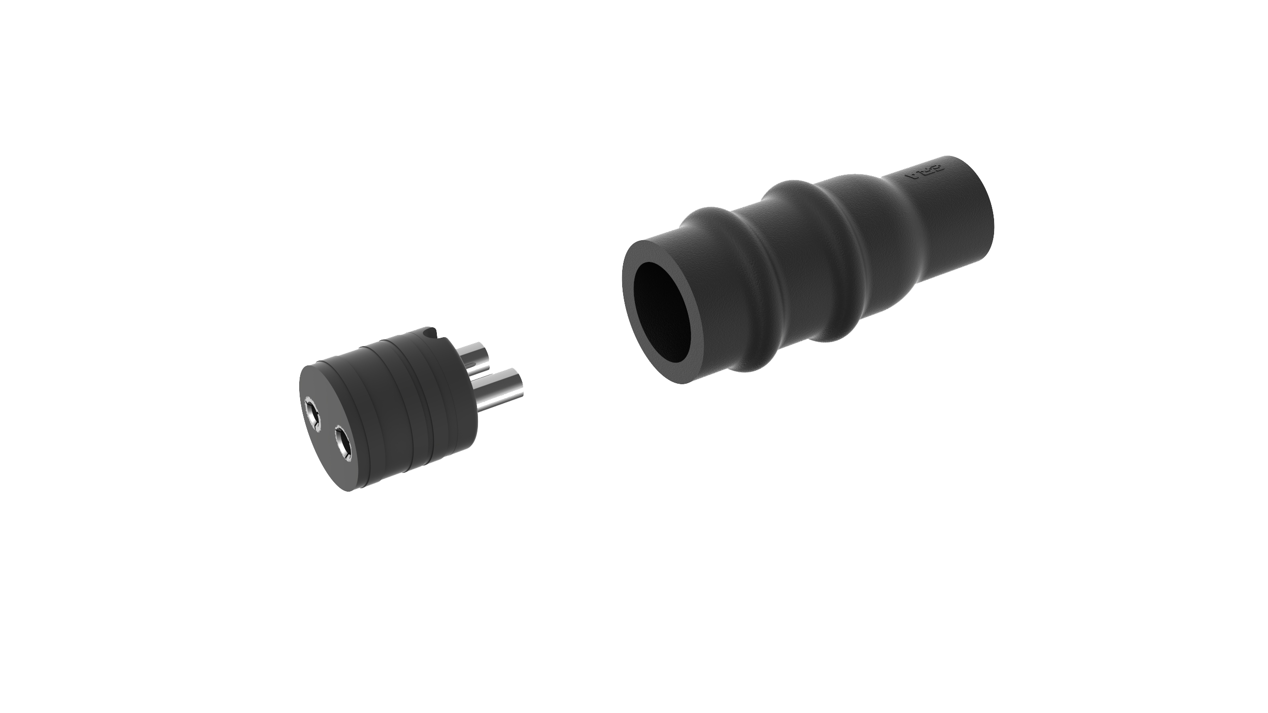 KD502, AGL Secondary Connector Kit for two-core cable, receptacle, Style 12 (png)