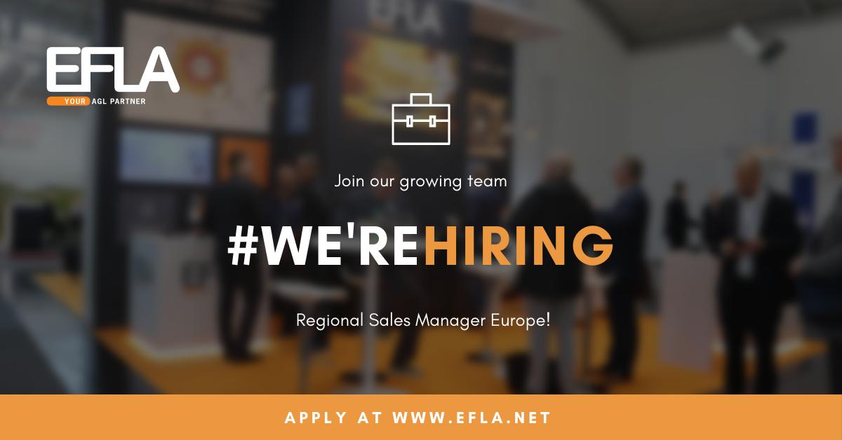 We're hiring Regional Sales Manager Europe
